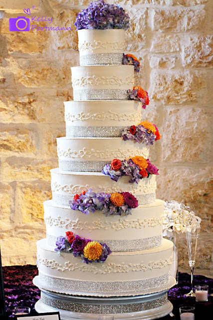 San Antonio Wedding Photographer, Outdoor Weddings, Cascade Flowers, Wedding Cake, Tiered Cake