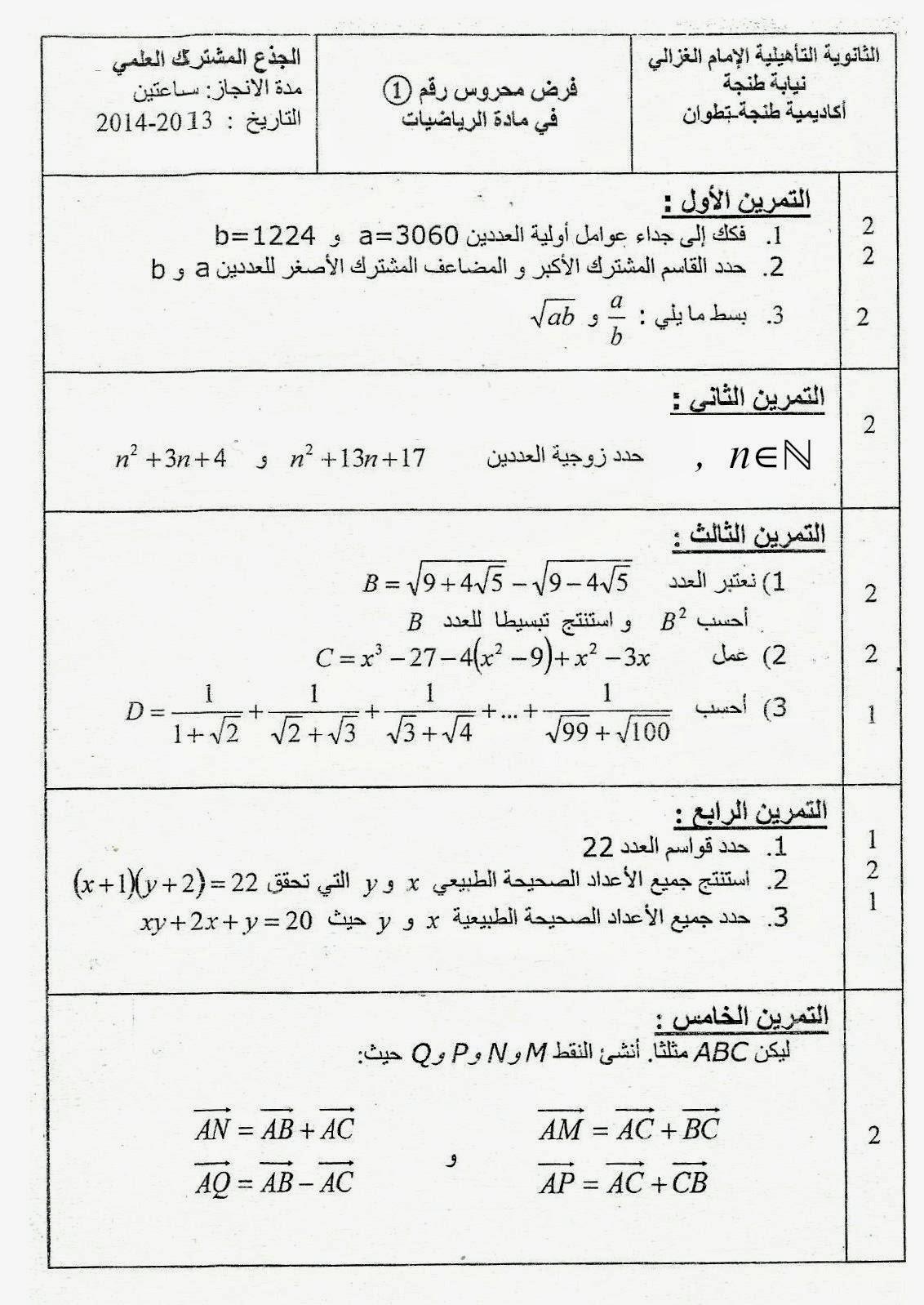 فرض الرياضيات