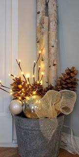 Navidad, Decoración Rustica