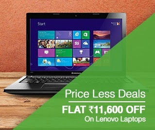 Price Less Deal: Buy Lenovo Essential G505 (59-379534) Laptop (APU Quad Core A4/ 4GB/ 1TB/ Win8/ 1 GB Graph) worth Rs.38398 for Rs.26300 Only @ Flipkart (For Today Only)