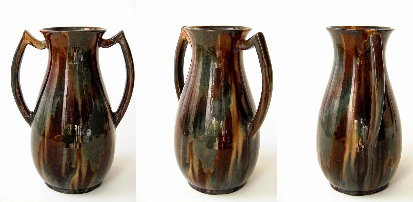 patina antik art deco flambe glaze vase. Black Bedroom Furniture Sets. Home Design Ideas