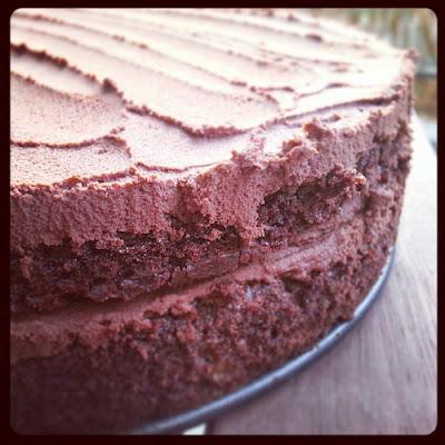 čokoládový pivní dort s ganache