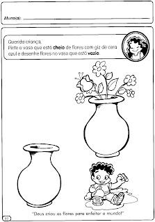ATIVIDADES CONCEITOS: CHEIO E VAZIO