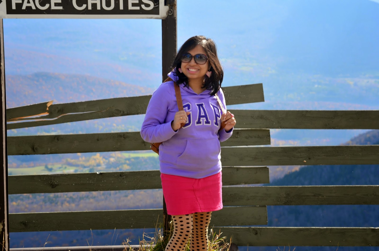 fall fashion, fall outfit, maternity fashion, fall OOTD, outfits in Vermont, polka dot tights, long boots outfit, maternity outfit, GAP hoodie, Firmoo sunglass, GAP skirt, Charlotte Russe backpack