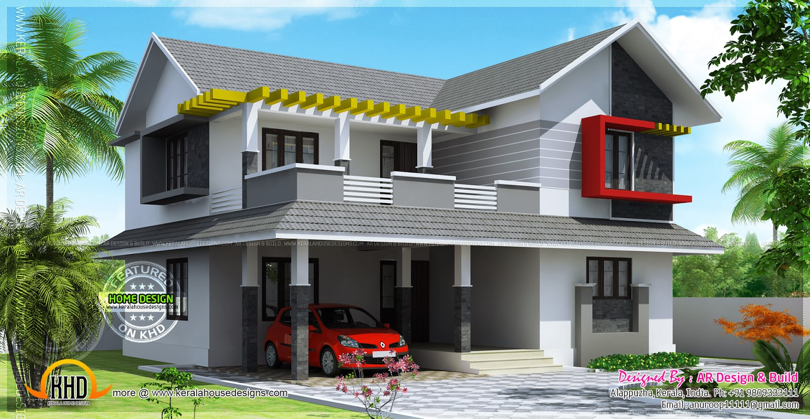 February 2014 kerala home design and floor plans for House models and plans