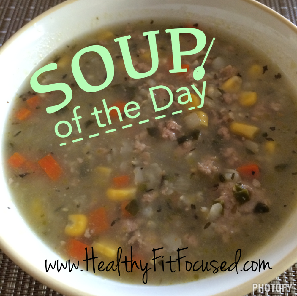 Clean Eating Recipe, Ground Turkey and Rice Soup, Soup of the Day, Crock Pot Meal