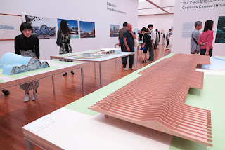 Models of Oscar Niemeyer's architectural designs, Museum of Contermporarly Art, Tokyo, Japan.