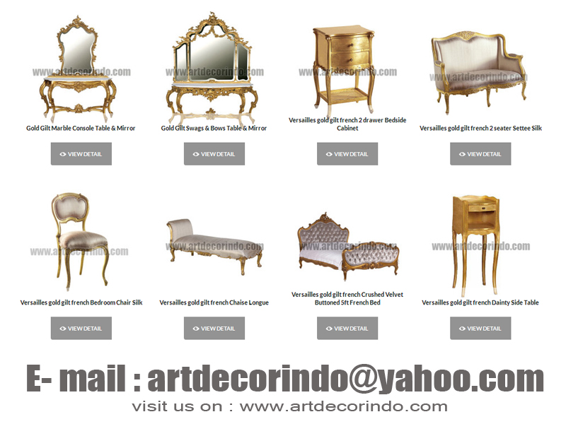 ANTIQUE FRENCH GOLD LEAF FURNITURE STYLE REPRODUCTION BY JEPARA FURNITURE  COMPANY