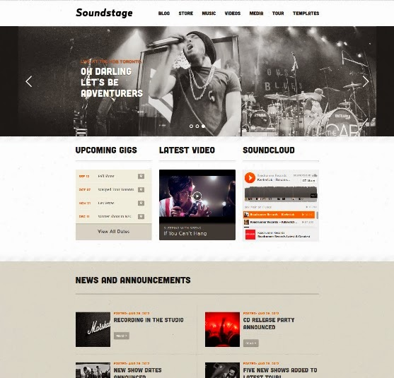 Soundstage Music WordPress Theme