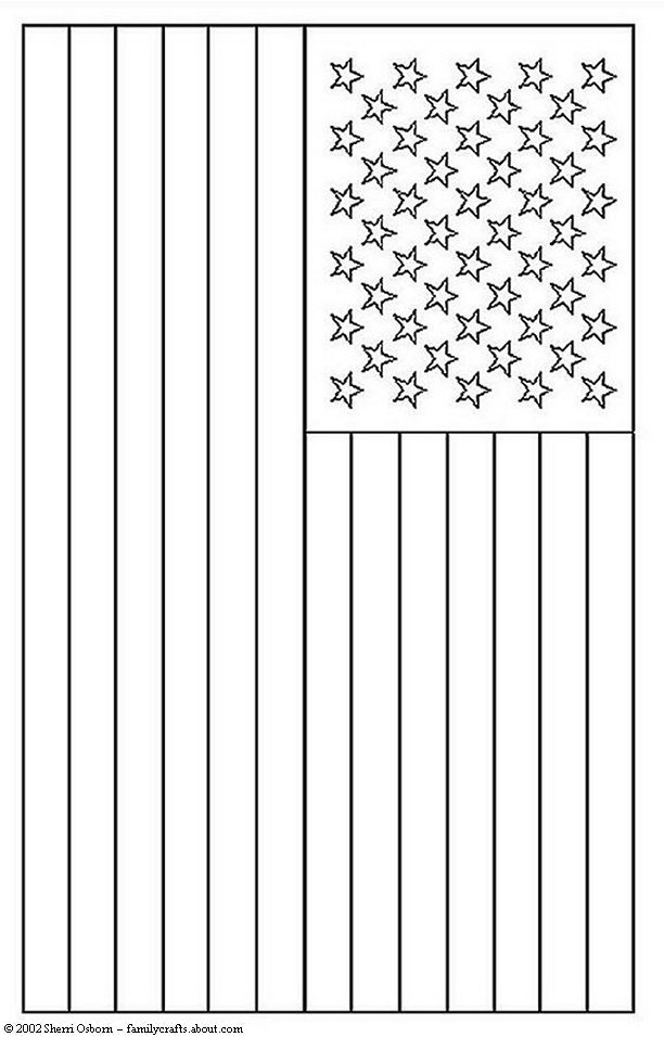 only coloring pages flag - photo#18