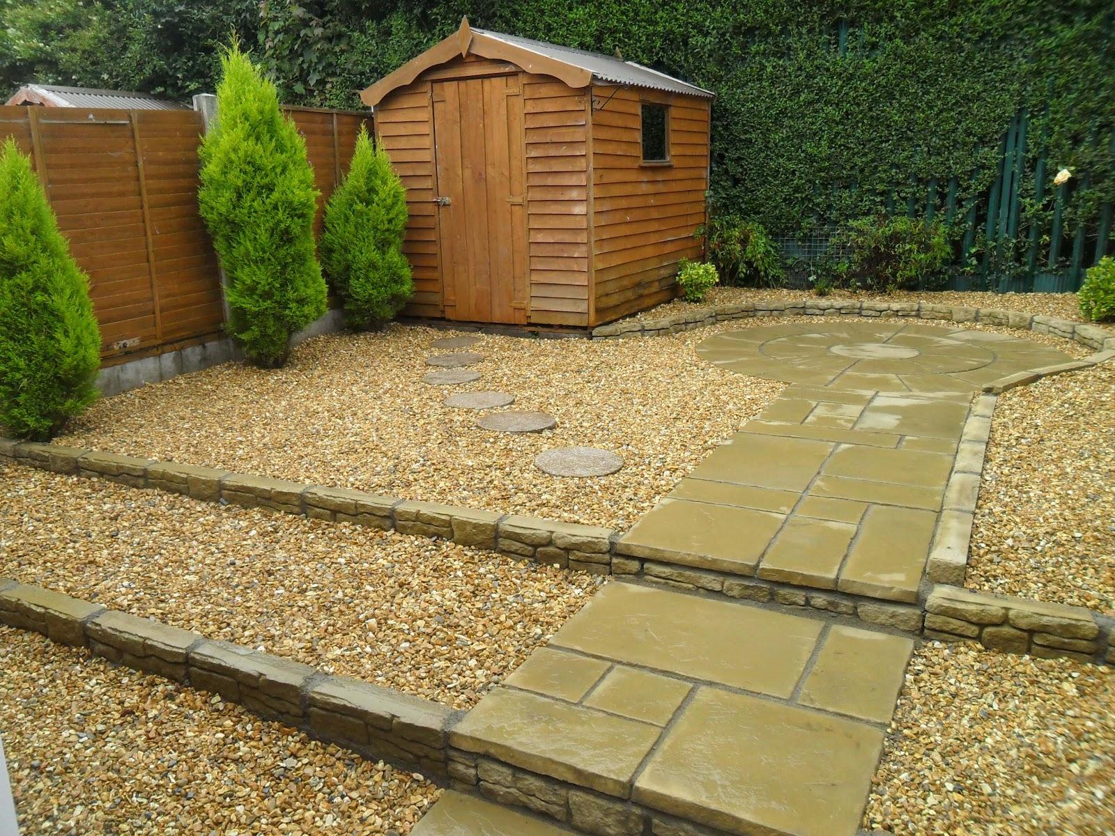 Greenart landscapes garden design construction and for Hard surface garden designs