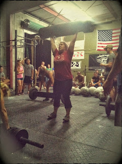 Grace with a Log at the Rob Orlando Strongman Southeast Tour