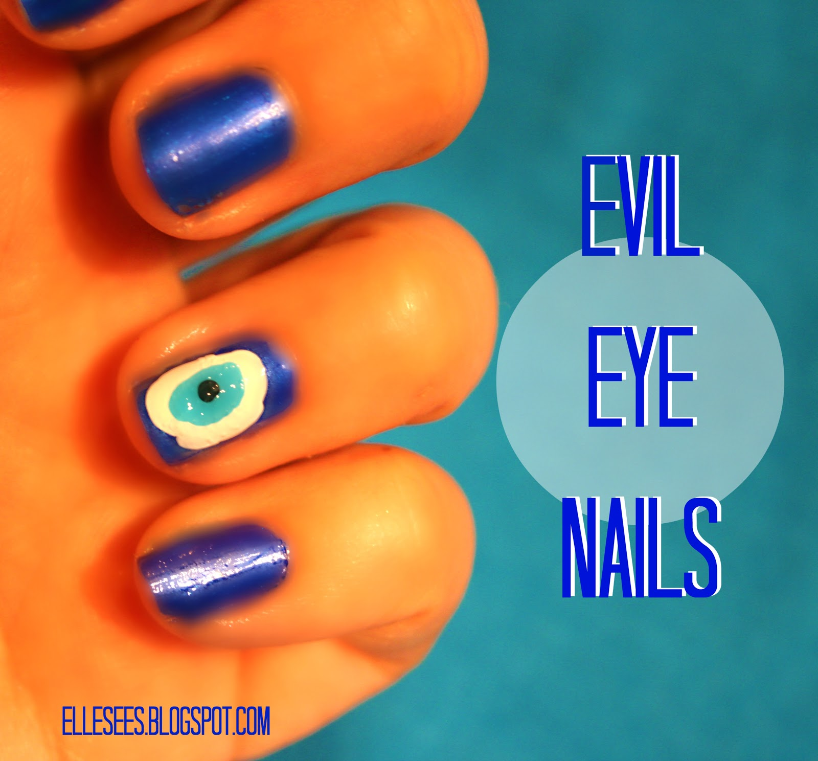 Elle Sees|| Beauty Blogger in Atlanta: How To: Evil Eye Nails