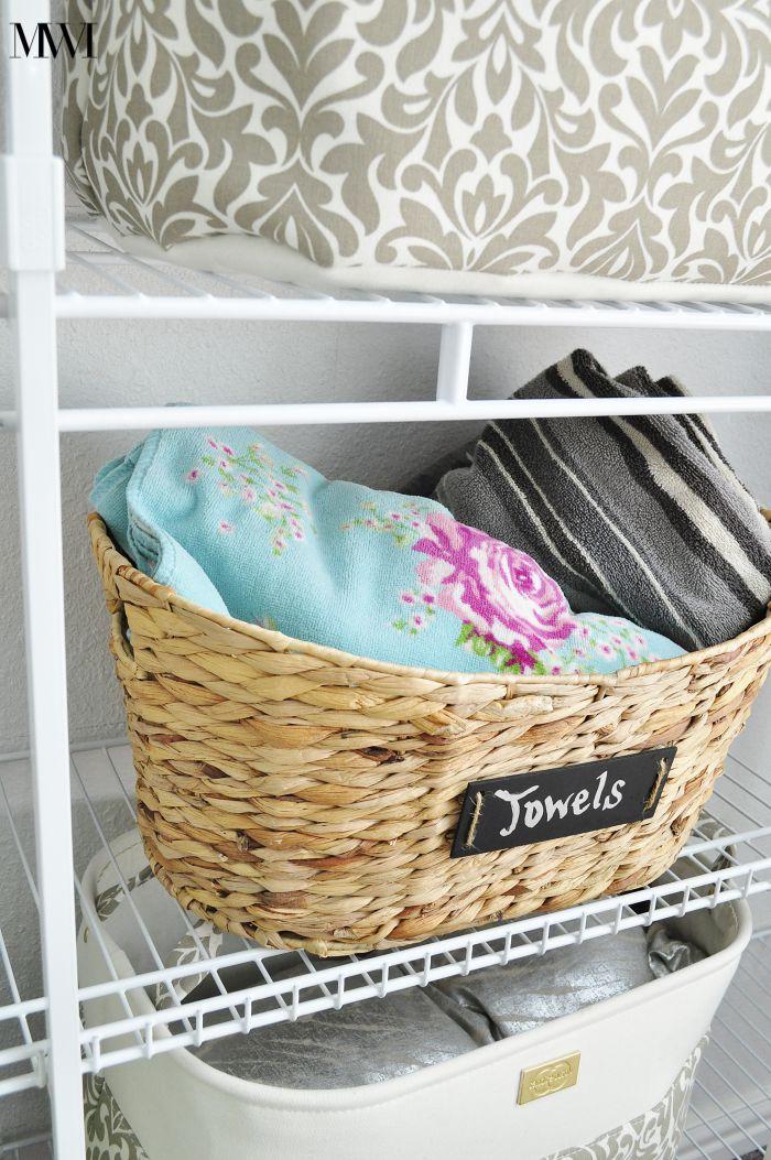 Organization closet bins
