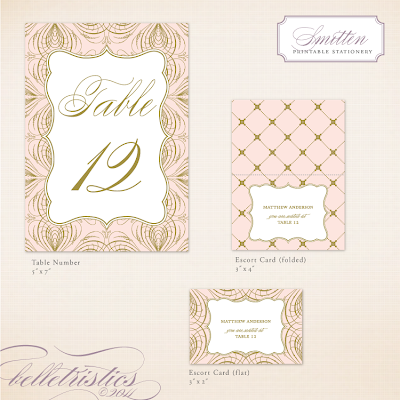 elegant glamorous pink gold printable diy wedding reception stationery design