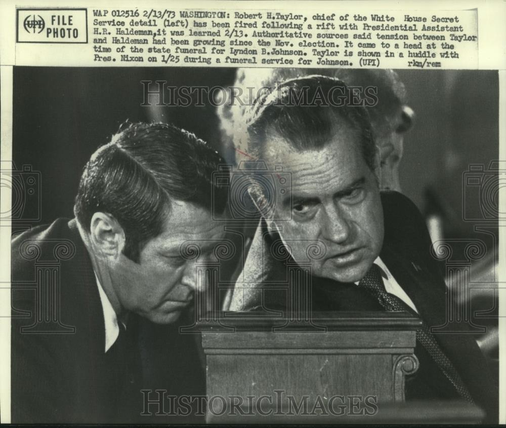 SAIC Robert Taylor was fired over his rubbing H.R. Haldeman the wrong way- read photo caption above