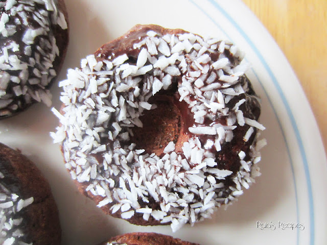 Dark Chocolate Banana Doughnuts by Raia's Recipes