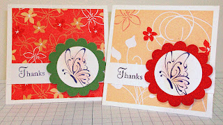Thank You Cards using Thanks for Caring stamp set