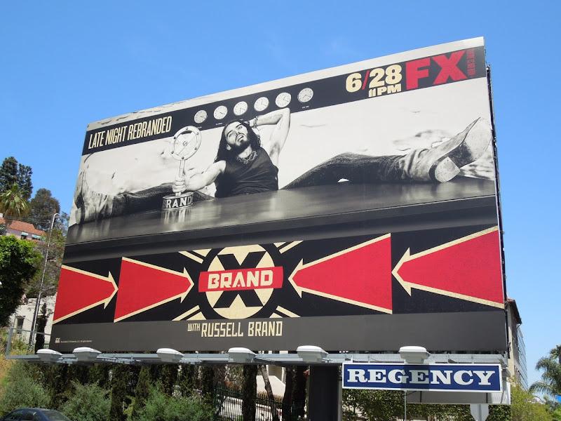 Russell Brand X billboard