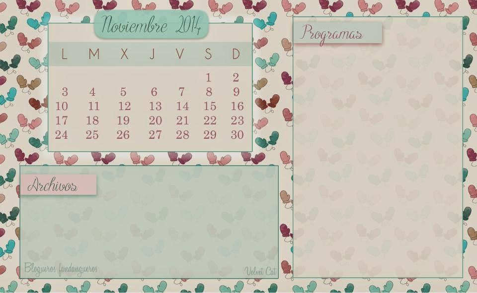 Fondo de escritorio calendario Noviembre cinco