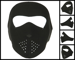 Youth Black Neoprene Face Mask