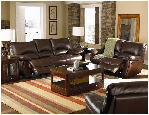 brown-leather-living-room-sets-with-recliner