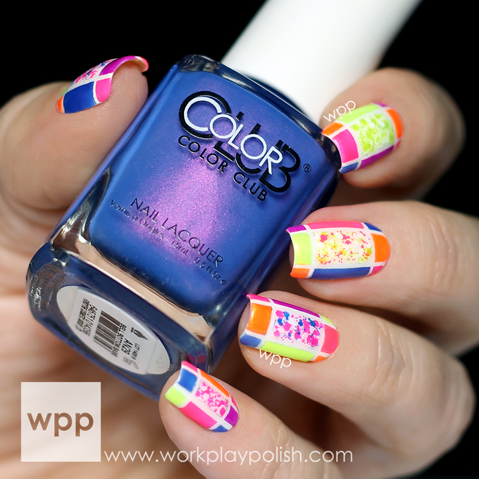Color Club Poptastic and Poptastic Remix Collections Color Block Nail Art