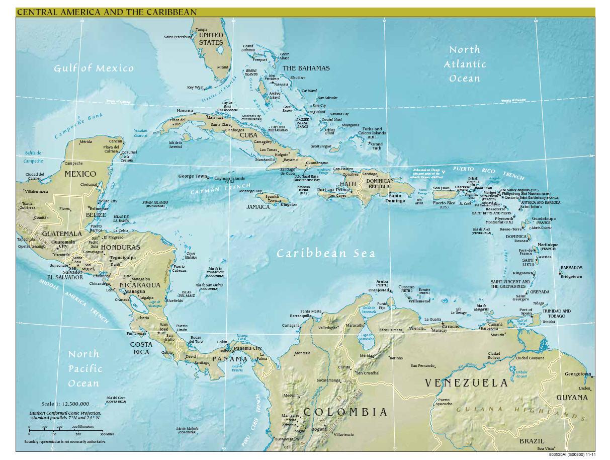 Map Virgin Islands St Martin