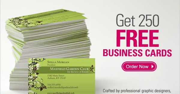 Vistaprint Deals 250 Free Business Cards Just Pay