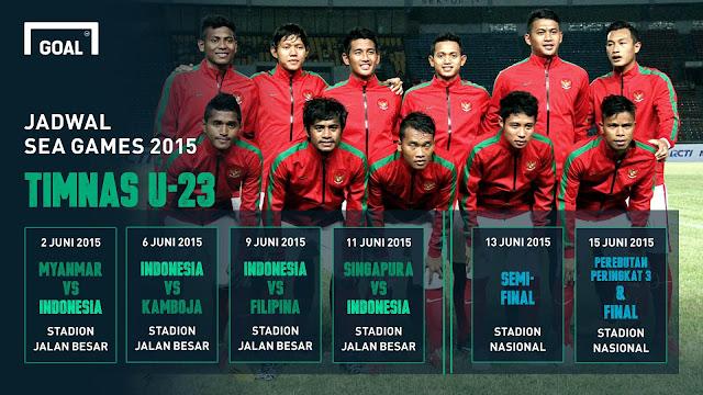 Foto Timnas Indonesia U-23 Terbaru SEA Games 2015