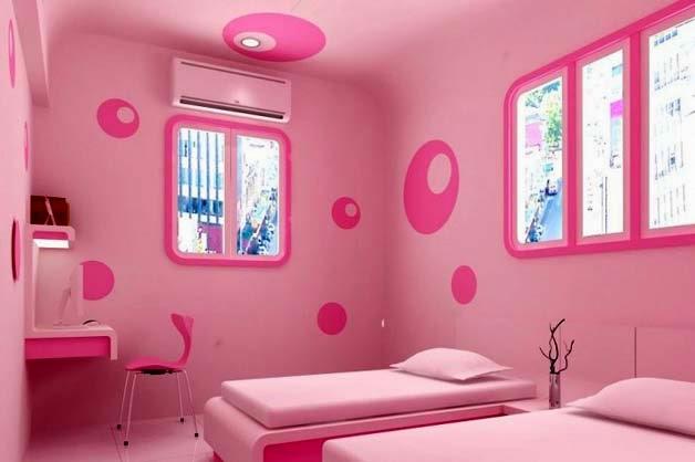 Habitaciones para niñas en color rosa 8