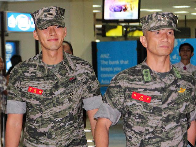 Hyun Bin in Military Uniform