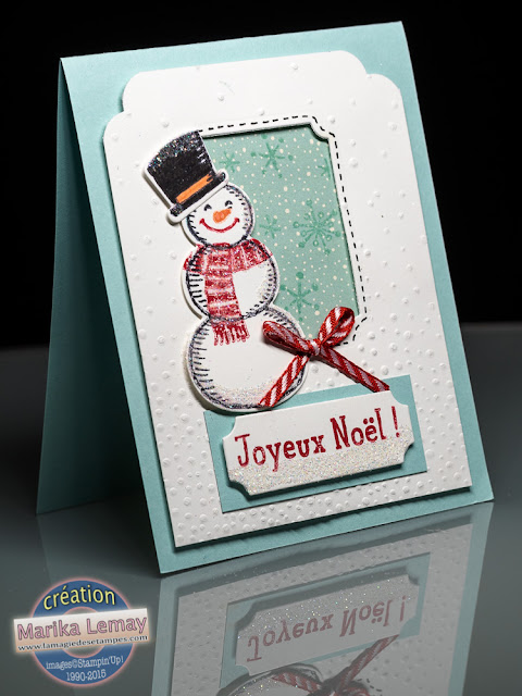 petit bonhomme Stampin' Up! Noël