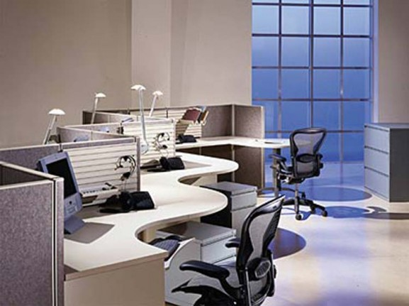 Western home decorating office furniture modern office for Modern it office design