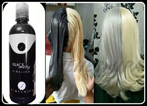 Cabello PLATA con Keratina Black Matiz !!