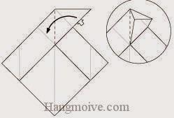 Bước 5: Mở lớp giấy, kéo và gấp lớp giấy sang trái.