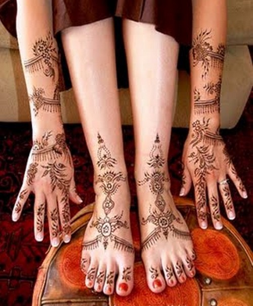 Mehndi Leg Designs : The fashion time wedding mehndi designs for legs