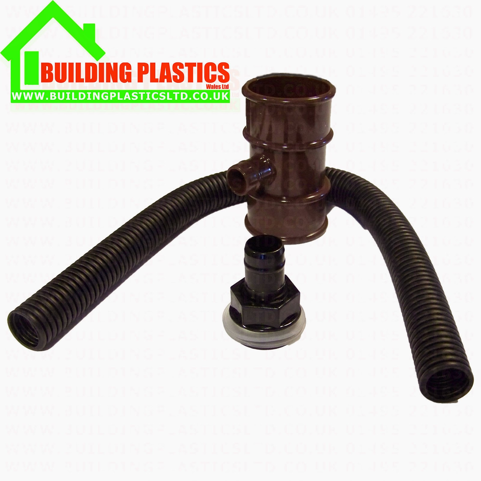 Floplast rainwater diverter for 50mm pipe