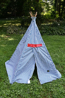 handmade fabric teepee