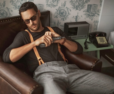 Noah Mills by Jun Liu for L'Officiel Hommes China