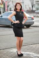 Rochie peplum Raluca Martinescu neagra din stofa elastica RM110