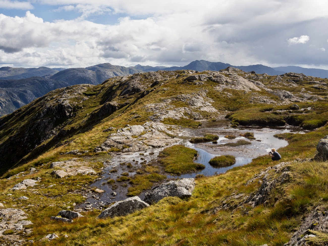 photo of Sgurr landscape with person to give some scale