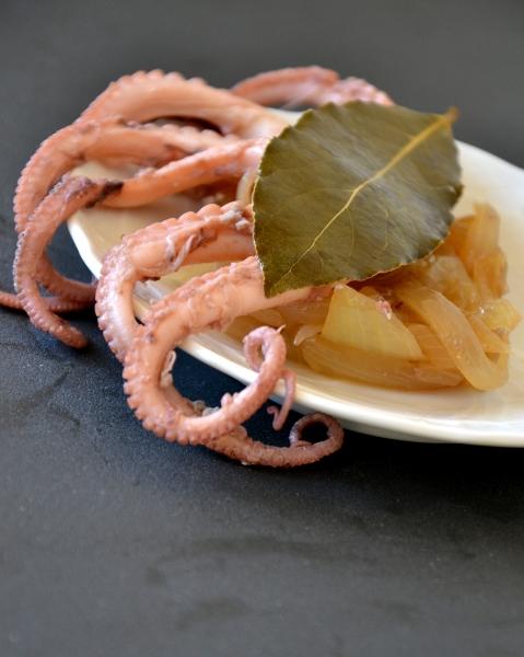 moscardini con cipolle bionde e aceto