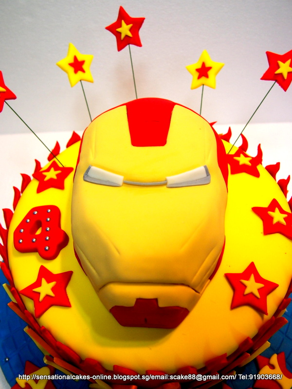 The Sensational Cakes IRON MAN MASK CAKE SINGAPORE AVENGER SCAKE