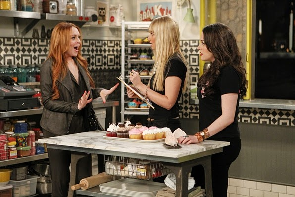 2-Broke-Girls-Lindsay-Lohan-Audiencias