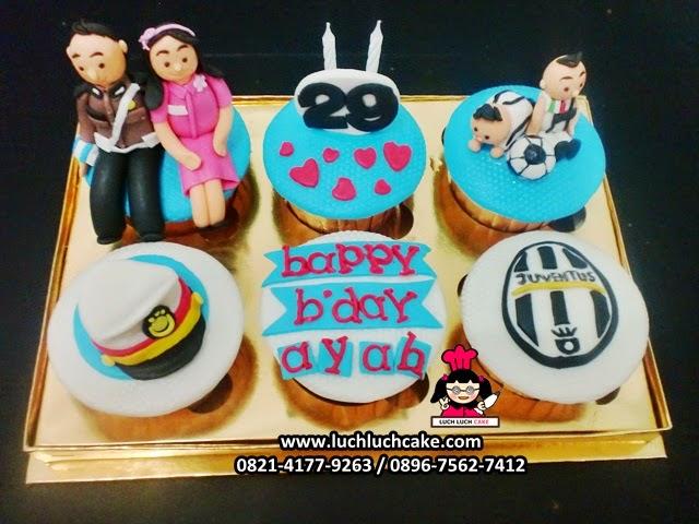 Cupcake Ulang tahun Tema Polisi Daerah Surabaya - Sidoarjo