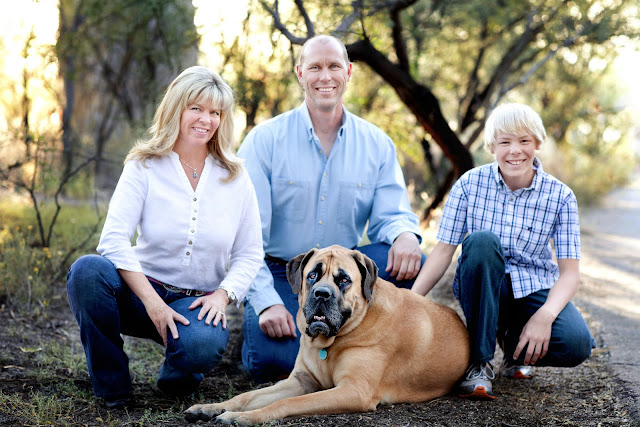 Oro Valley family sits with dog at local Tucson park