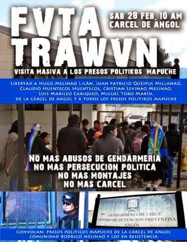 ANGOL: FVTA TRAWVN VISITA MASIVA A LOS PRESOS POLÍTICOS MAPUCHE