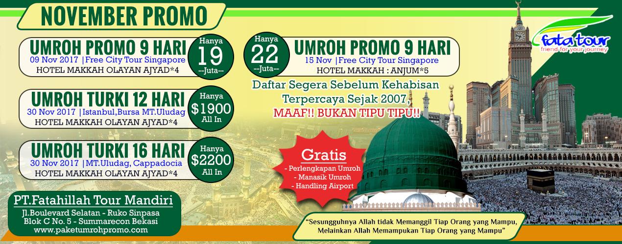 Paket Promo Umroh Murah 2018 Fatatour 081384211114