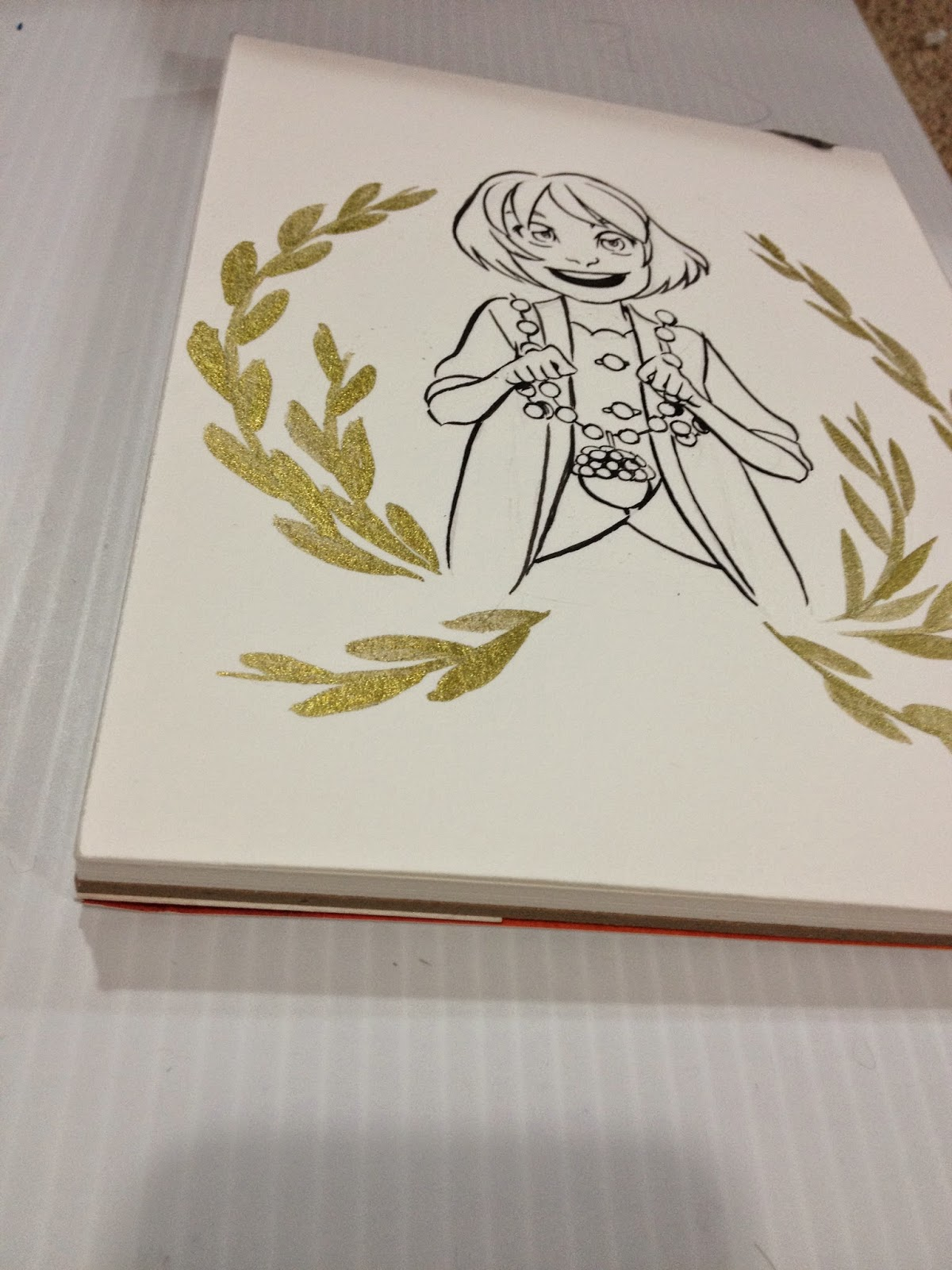Winsor and Newton Gold Ink Test 3